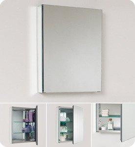 "Fresca FMC8058 19.75"""" Mirrored Bathroom Medicine Cabinet"