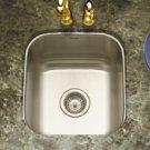 """Houzer Club MS-1708-1 16 1/4"""" x 17 15/16"""" x 8"""" Square Undermount Bar-Prep Sink & Strainer - Sta"""