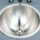 "Houzer Opus CRT-1620-1 14 3/8"" x 6 1/4"" Topmount Lav Conical Bowl Sink - Stainless Steel"