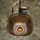 "Houzer Hammerwerks HW-LAG1BF 17-7/8"" x 17-7/8"" Lager Flat Lip Bar/Prep Sink-Antique Copper"
