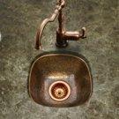 """Houzer Hammerwerks HW-SCH1BF 12-1/2"""" x 12-1/2"""" Schnapps Flat Lip Bar/Prep Sink - Antique Copper"""