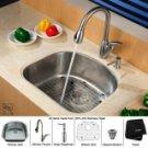 Kraus KBU10-KPF1612-KSD30CH Kraus Stainless Steel  24'' x 20'' Undermount Kitchen Sink & Chrome Fa