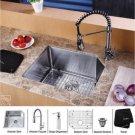 Kraus KHU121-23-KPF1612-KSD30CH Kraus Stainless Steel  Undermount Kitchen Sink & Chrome Faucet & S