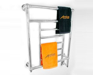 "Amba Traditional T-2536 Towel Warmer 25"" x 36"" x 5 3/8"" - Polished Nickel"