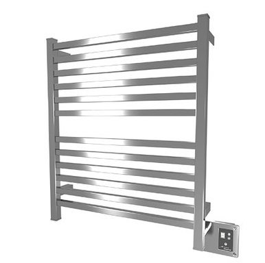"""Amba Quadro Q-2833-P 28"""" W x 33"""" H Towel Warmer and Space Heater - Polished Stainless"""