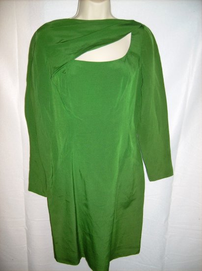 Green Dress with Cut Outs