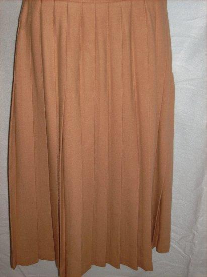 Navy Tan Wool Skirt