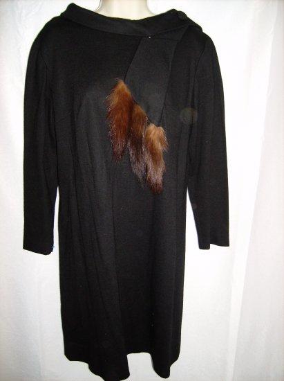 Fur Stole Dress