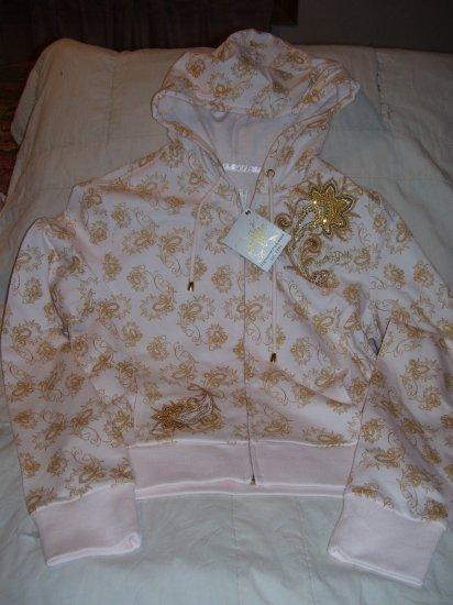 South Pole Hoodie Hooded Sweatshirt Junior Med Cream Gold New