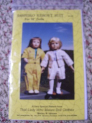 "Sashiko Resort Suit Pattern for 18"" Doll Shirley Holmes SH200"