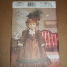 "Vouge 7098 Craft Historical 18"" Doll Dress Clothing New Uncut OOP"