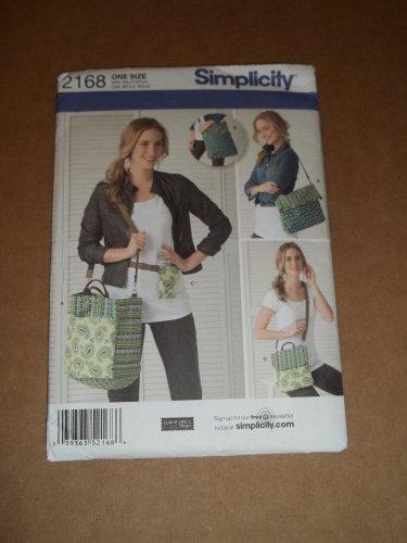 Simplicity Pattern 2168 Purse Tote Uncut