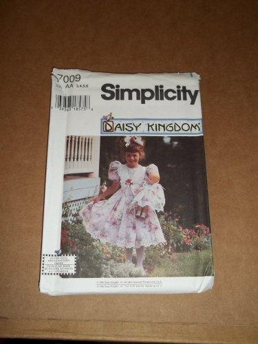 Simplicity Daisy Kingdom Dress Pattern 7009 Size 3,4,5,6  Uncut