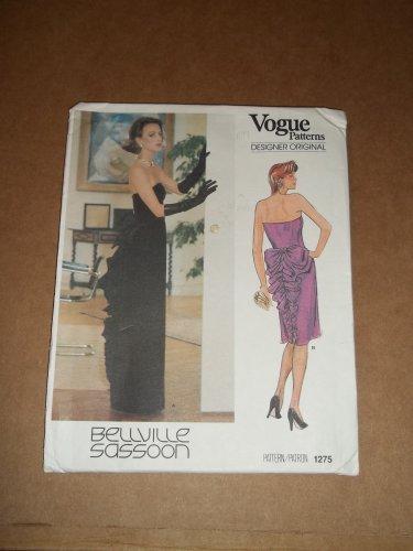 Vogue Designer Original Formal Dress Pattern 1275 Size 12 Uncut