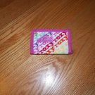 Roxy Trifold Canvas Wallet Multi Color Pink Red Yellow Green Orange
