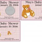 10 Baby Girl with Diaper Baby Shower Scratch Off Games