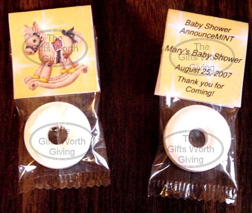 Personalized Yellow Rocking Horse Baby Shower Mint Toppers Party Favors