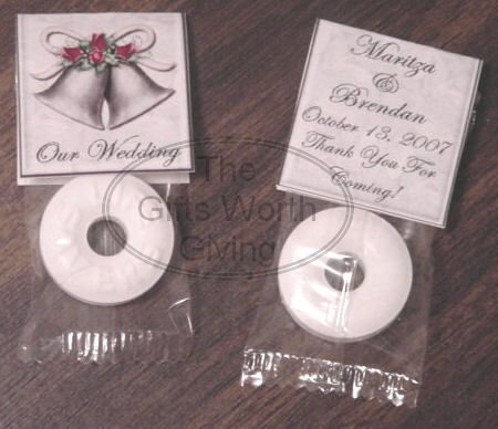Personalized Wedding Bells Mint Toppers Bridal Shower Party Favors