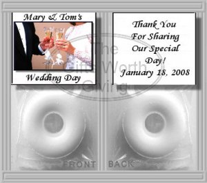 Wedding Toast Bride and Groom Mint Toppers Bridal Shower Favors