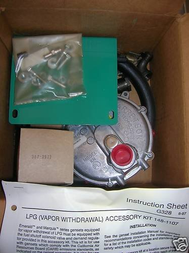 Onan 148-1107-50 LPG Kit WITH Carb 146-0734 NHM, BGM, BGE Emerald, Marquis