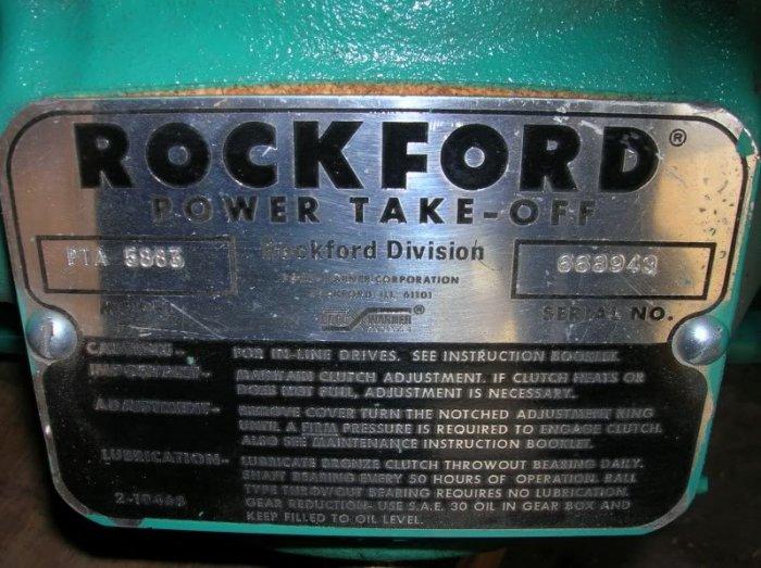 Rockford Power Take-Off PTO 5883