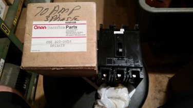 Onan 320-0414 Circuit Breaker NEW, 70A 3 Phase