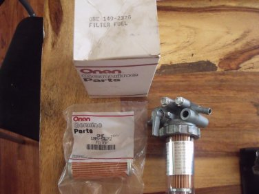 Onan 149-2326 Fuel Filter with Extra 185-5672 Filter Element NEW