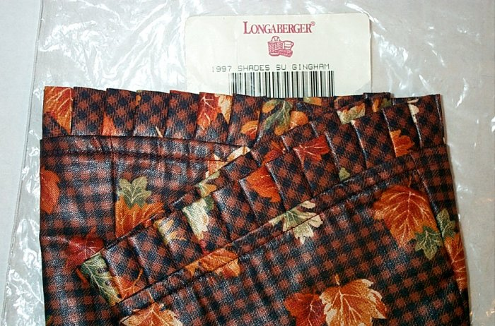 Retired Longaberger 1997 Shades Of Autumn Liner