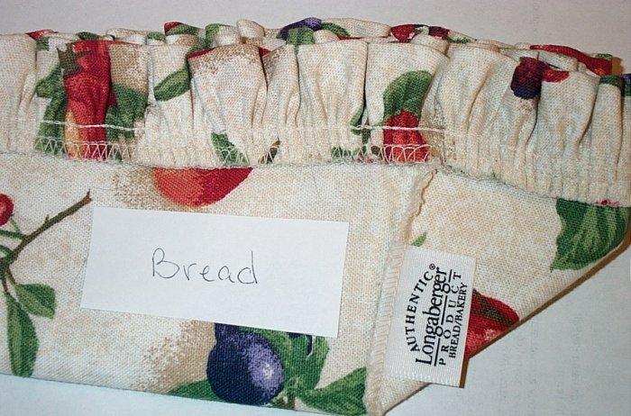 Retired Longaberger Fruit Medley Bread Basket Liner