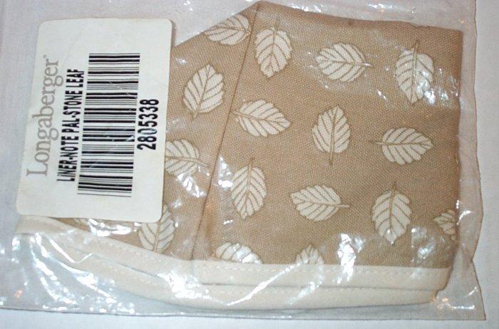 Retired Longaberger Stone Leaf Note Pal Liner