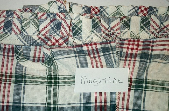Retired Longaberger Market Day Plaid Magazine Liner