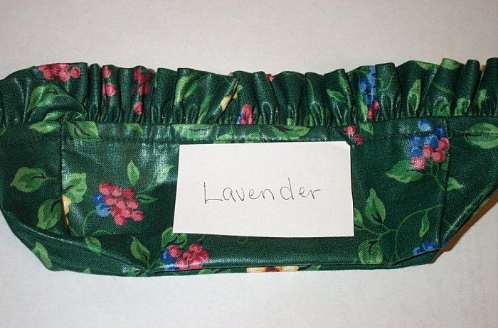 Retired Longaberger Emerald Vine Lavender Basket Liner