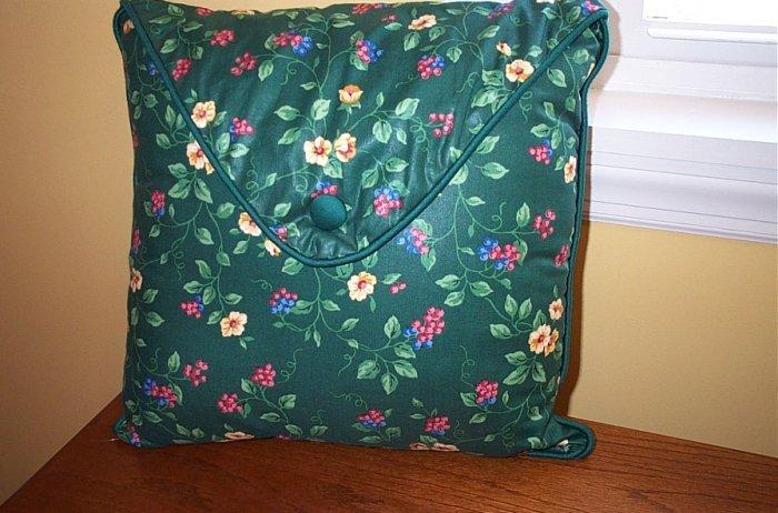 Retired Longaberger Emerald Vine Envelope Flap Pillow