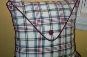 Retired Longaberger Woven Traditions Envelope Flap Pillow