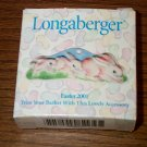 Retired Longaberger 2001 Easter Bunny Tie On