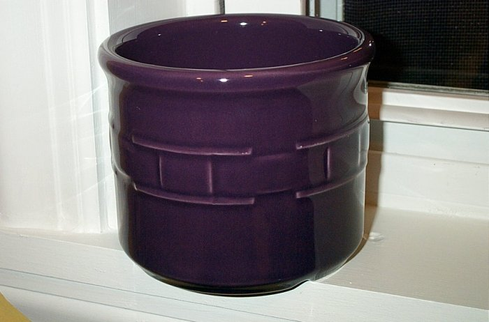 Retired Longaberger Eggplant Pottery Crock