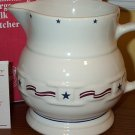 Retired Longaberger All American Pottery Large Pitcher