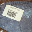 Retired Longaberger Rare Chambray Blue Berry Liners All 3