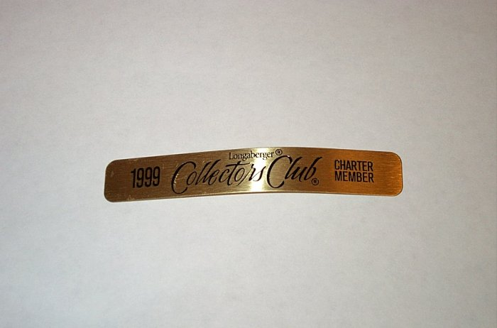 Longaberger Retired Rare To Find Collectors Club Splint From 1999
