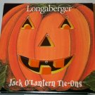 Retired Longaberger Jack O'Lantern Tie On Set In Box
