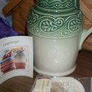 Retired Longaberger Green American Craft Pottery Pitcher