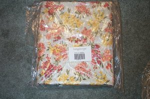 Longaberger 10 Yards Snapdragon Stripe & Floral Fabric