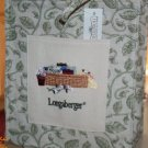 Longaberger Retired Garden Vine Embroidered Tote Bag