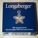 Retired Longaberger 2001 Inaugural Star Tie On