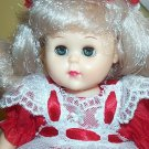Vogue Platinum Hair Ginny Doll In Red Dress & Headband