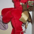 Annette Funicello 1999 Cute Little Red Bear In Box