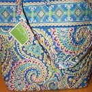 Retired Vera Bradley Capri Blue Tote Bag