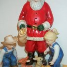 Homco Denim Days Sharing Christmas Spirit Figurine