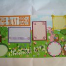 "PRE MADE PAGES 4 EASTER ""LET THE HUNT BEGIN"" CHQD"