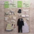 SET OF 3 SCRAPBOOKING EMBELLISHMENTS 4 WEDDING CHQD